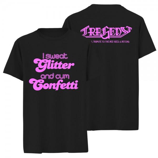 T-Shirt I sweat Glitter black