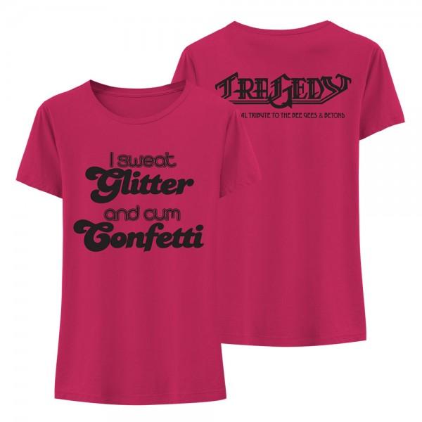 T-Shirt (w) I sweat Glitter fuchsia