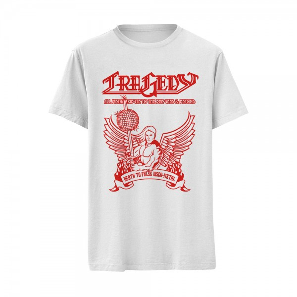 T-Shirt Death to False Disco-Metal white